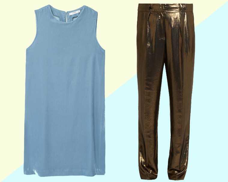 Velvet blouse, Rs 4,590, Mango Lamé trousers, Rs 25,040, Elizabeth and James @ Matchesfashion.com