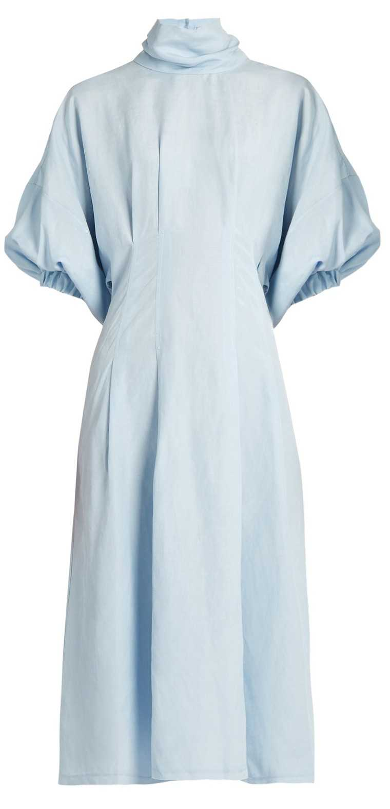 Silk and linen-blend dress, price on request, Rachel Comey @ Matchesfashion.com