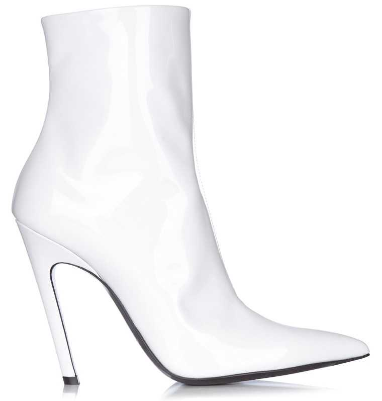 Stand out in a pair of sleek statement boots. Pick yours in a shade of brilliant white for maximum impact.   Patent leather boots, price on request, Balenciaga @ Matchesfashion.com