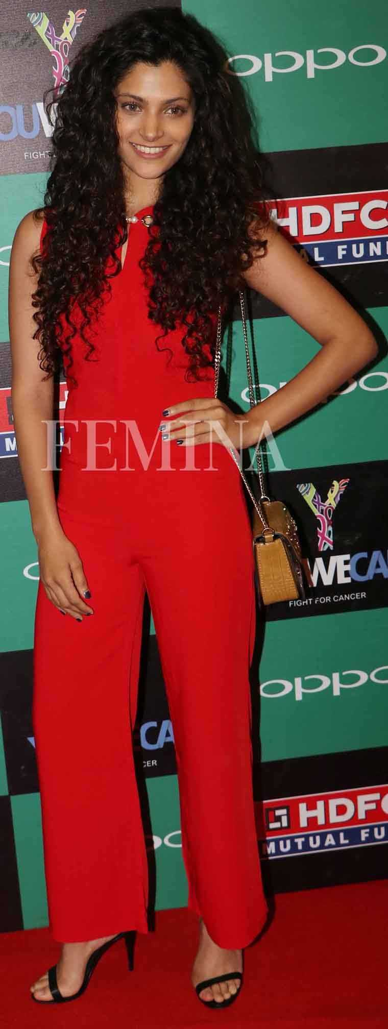 SAIYAMI KHER: The Mirzya star kept her hair, makeup and accessories simple but this traffic-stopping red Adam Selman jumpsuit was vibrant enough to make sure she stood out.