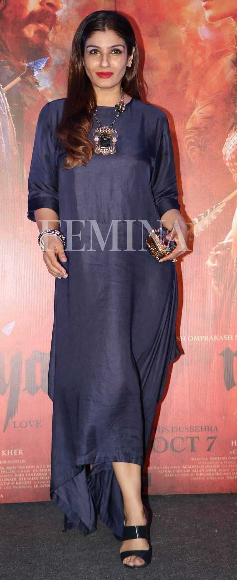 At a recent event, Raveena Tandon stepped out in a chic Payal Khandwala dress in the season's most wanted colour—Indigo, inspiring us to update our wardrobes immediately with pieces in this versatile shade. Pair these dresses with the season's hotte