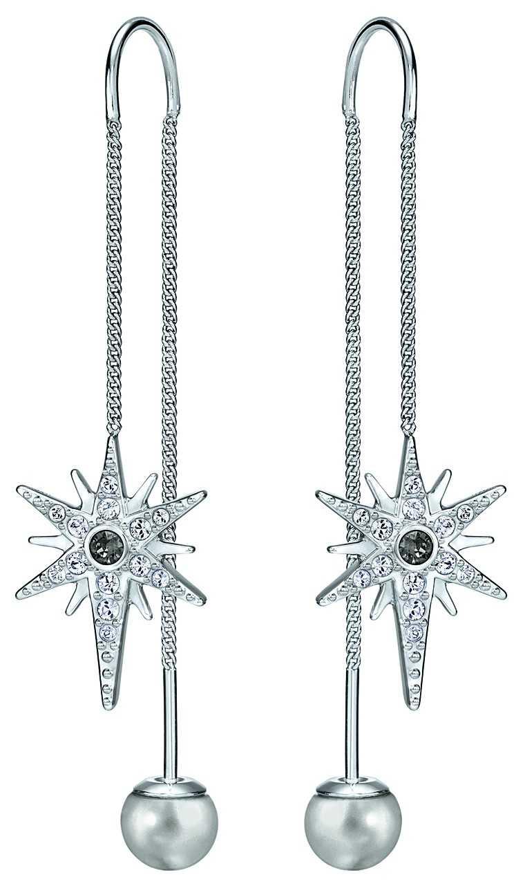 Rhodium- plated earrings, Rs.4,990, Swarovski
