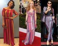 Jacqueline and Gigi know how to wear rainbow stripes