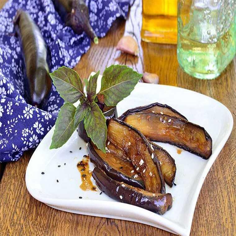 Eggplant in soy sesame sauce