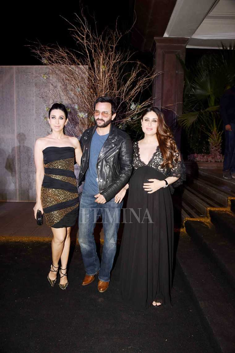 Karisma Kapoor, Saif Ali Khan, and Kareena Kapoor Khan
