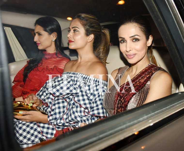 Malaika Arora and Amrita with Anu Dewan