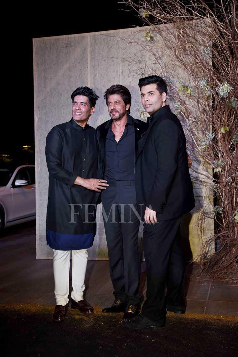 Manisha Malhotra, Shah Rukh Khan and Karan Johar