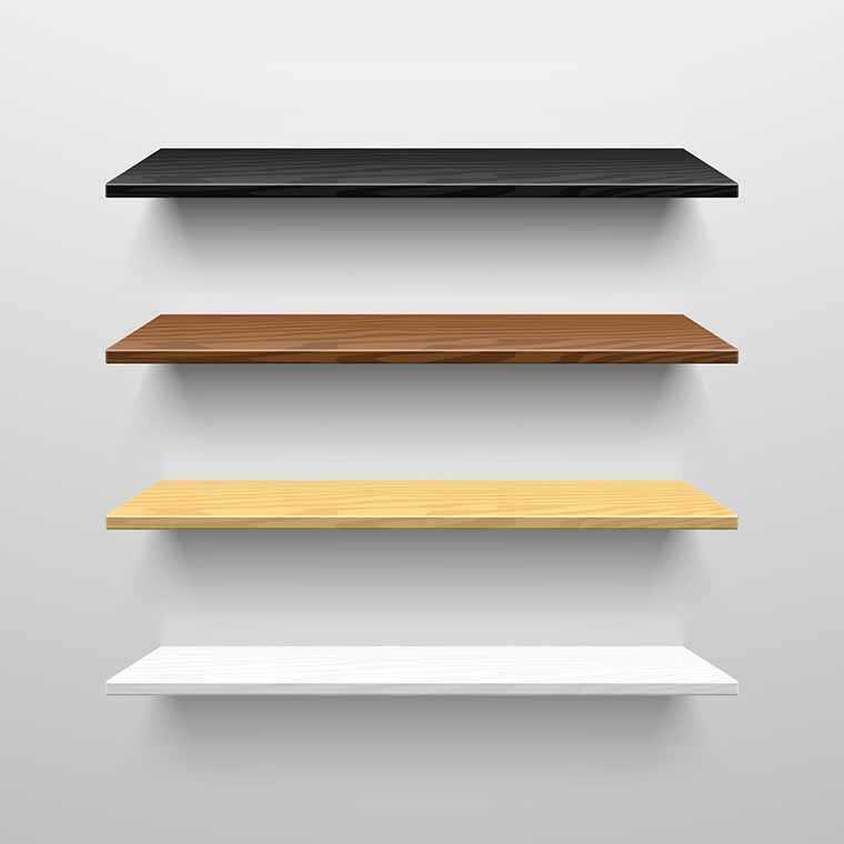 Shades of shelves