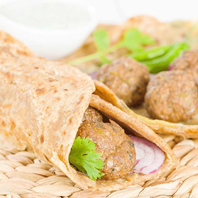 Soya chapati roll