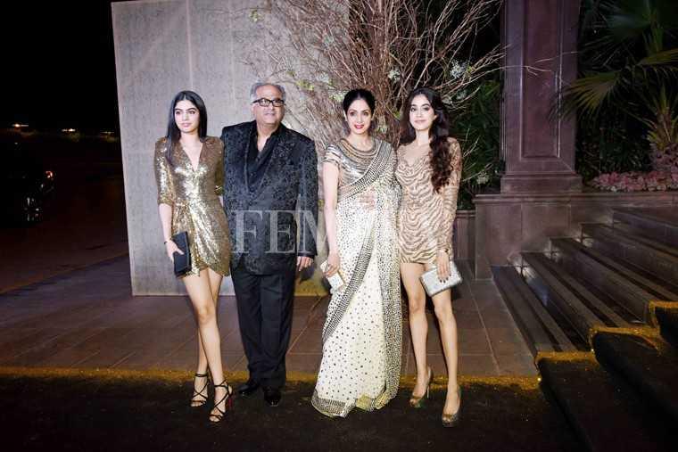 Khushi, Bonney Kapoor, Sridevi and Jahnavi