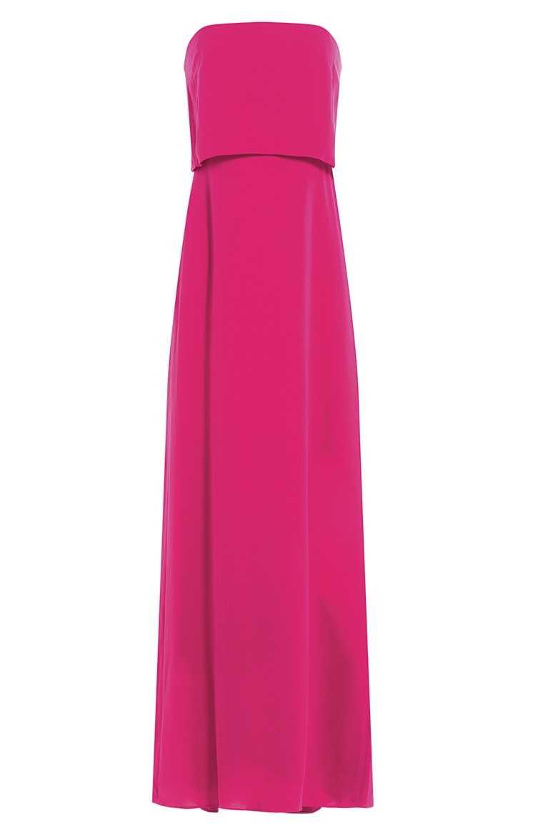 Polyester elastane gown