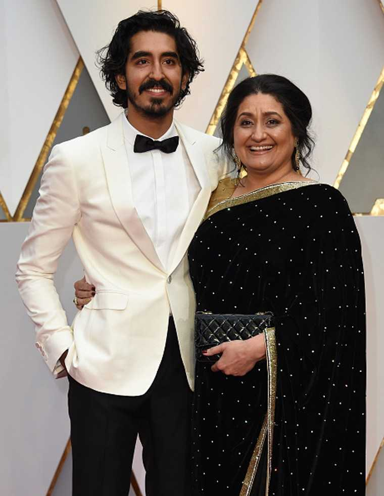 Dev Patel plays mama's boy