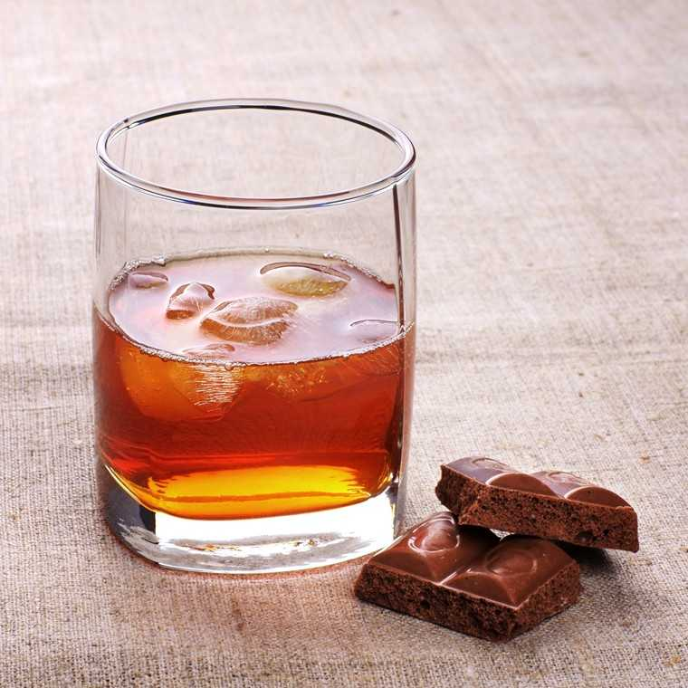 Whisky with chocolate