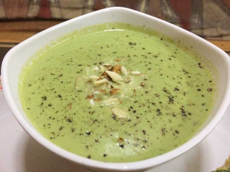 Broccoli almond soup picture Aarti Mehta