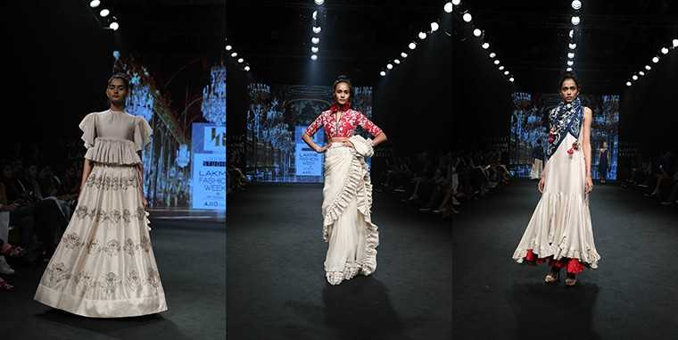 Jayanti Reddy's collection neutral colour palette of beige and white