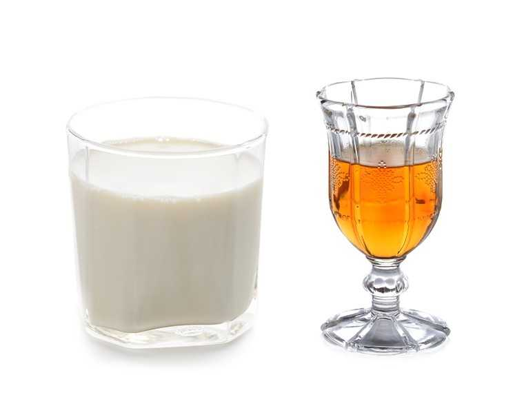 Whisky with milk