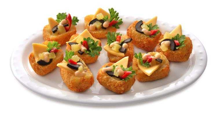 Potato cheese canapés