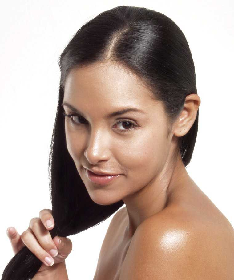lush hair and glowing skin