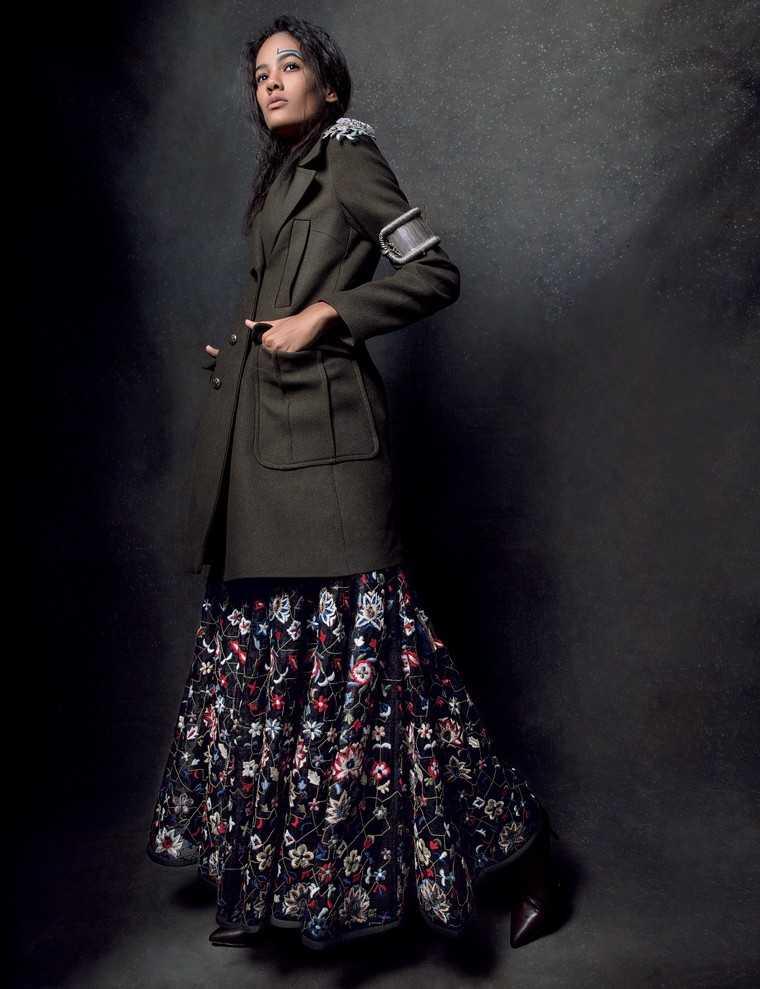 Winter-floral-khaki-trench-coat-Zara