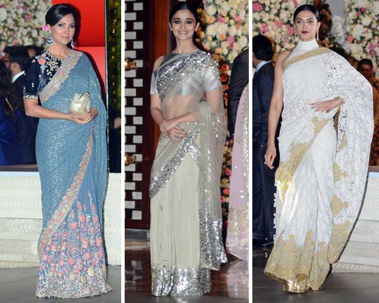 3 celebrity sari trends