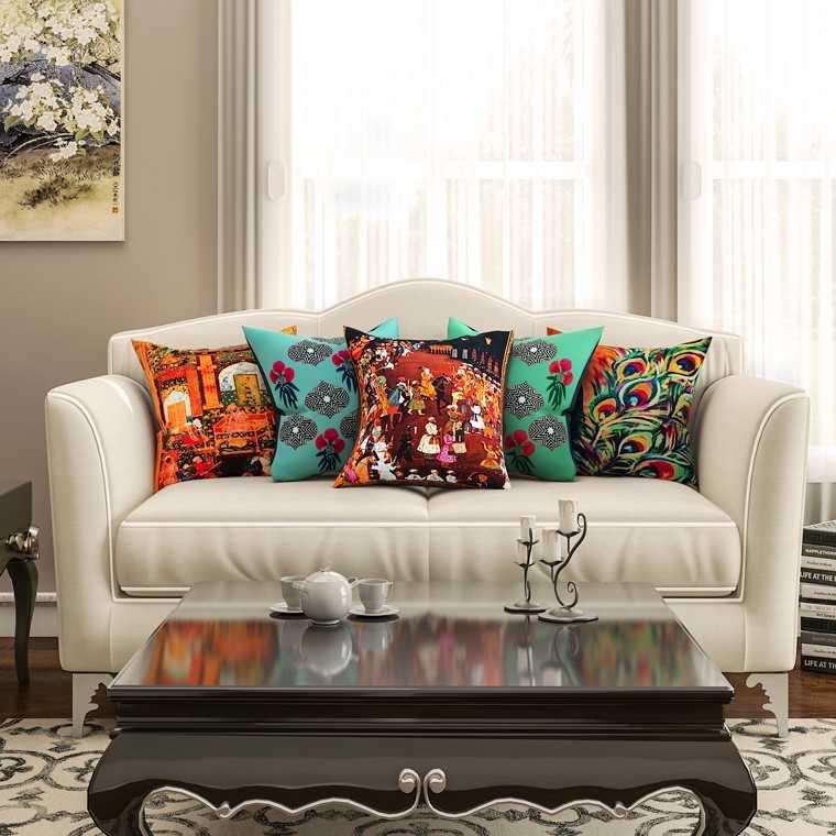 Funky printed cushions