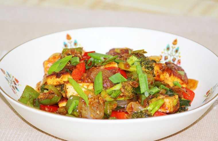 stir fried tofu or paneer