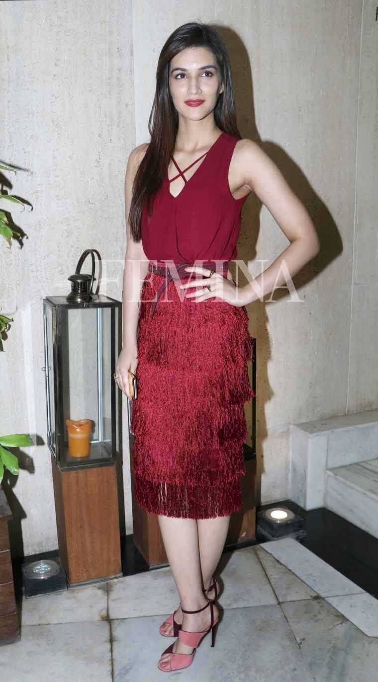 Kriti-Sanon-wine-hued-top-Manish-Malhotra-party-Aldo-sandals
