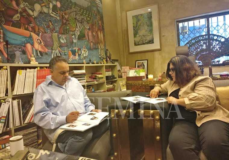 Femina editor, Tanya Chaitanya WITH  Sandeep Khosla