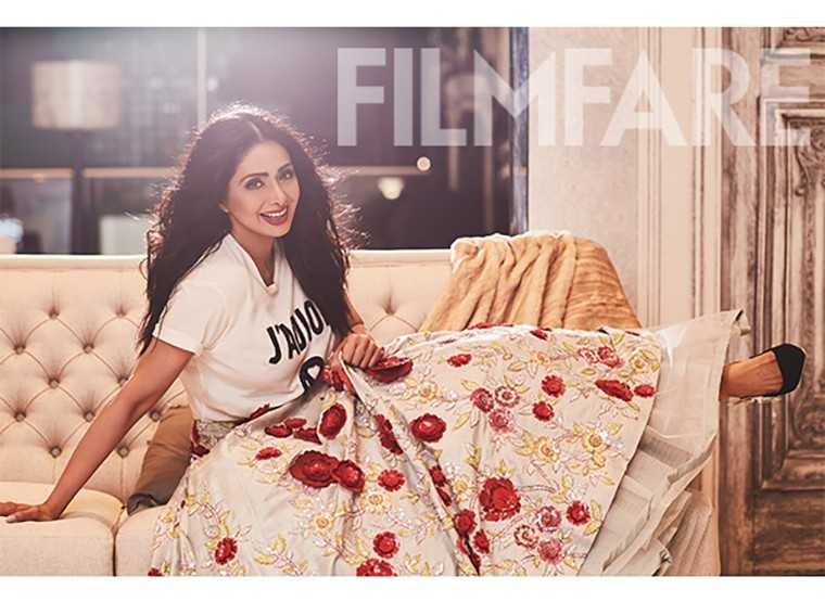 Sridevi on Filmfares latest cover