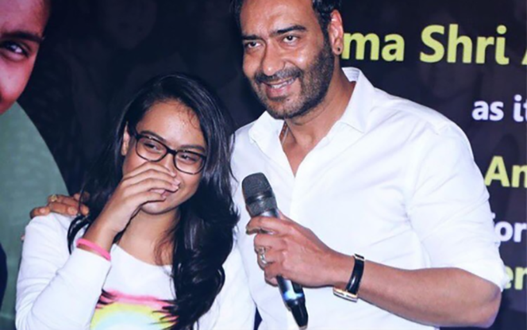 Nysa and Ajay Devgn