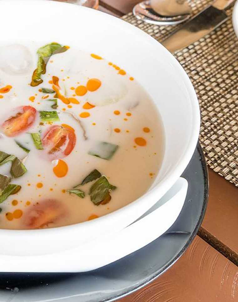 Coconut peanut soup