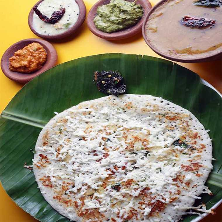 Corn cheese dosa