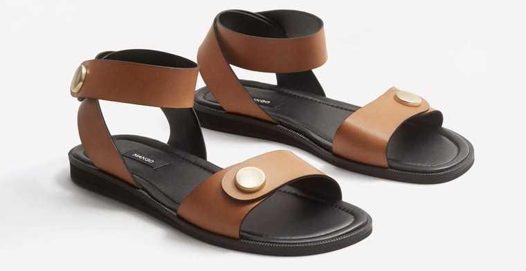 Bovine leather sandals