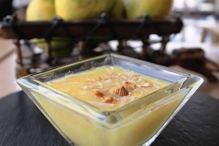 Mango oats kheer