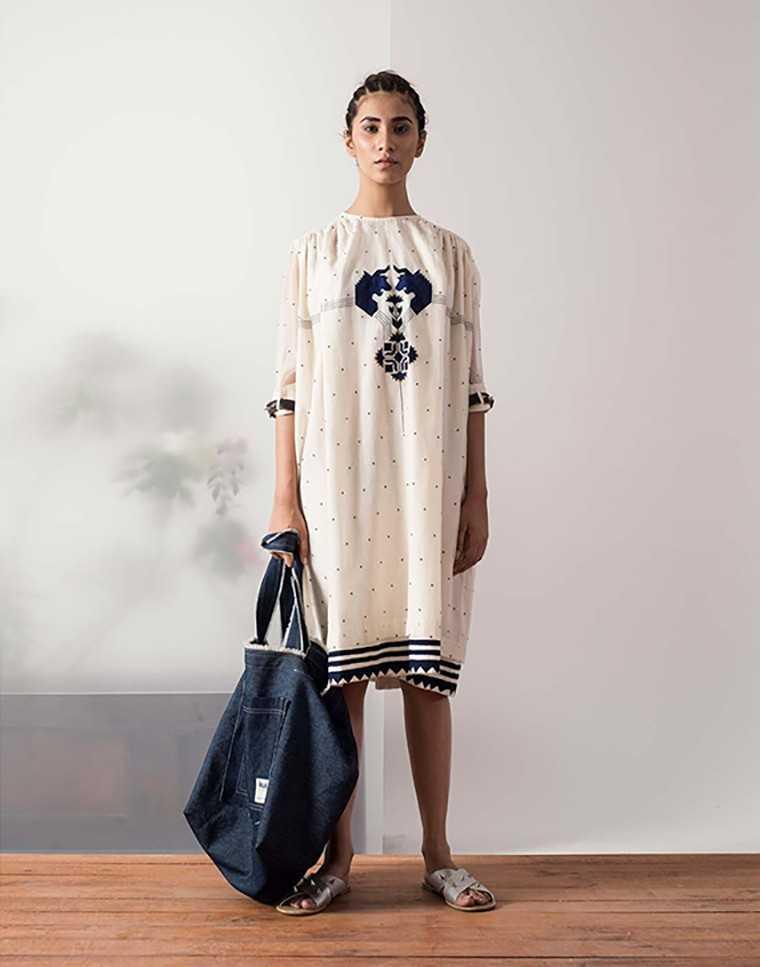 Ogaan.com Cotton blend dress