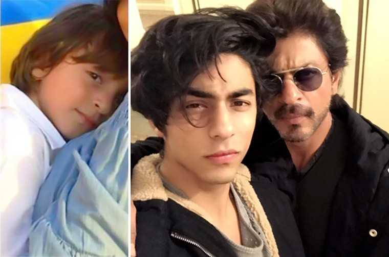 Shah Rukh Khan and AbRam and Aryan
