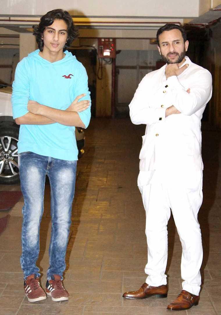 Saif Ali Khan and Ibrahim Khan