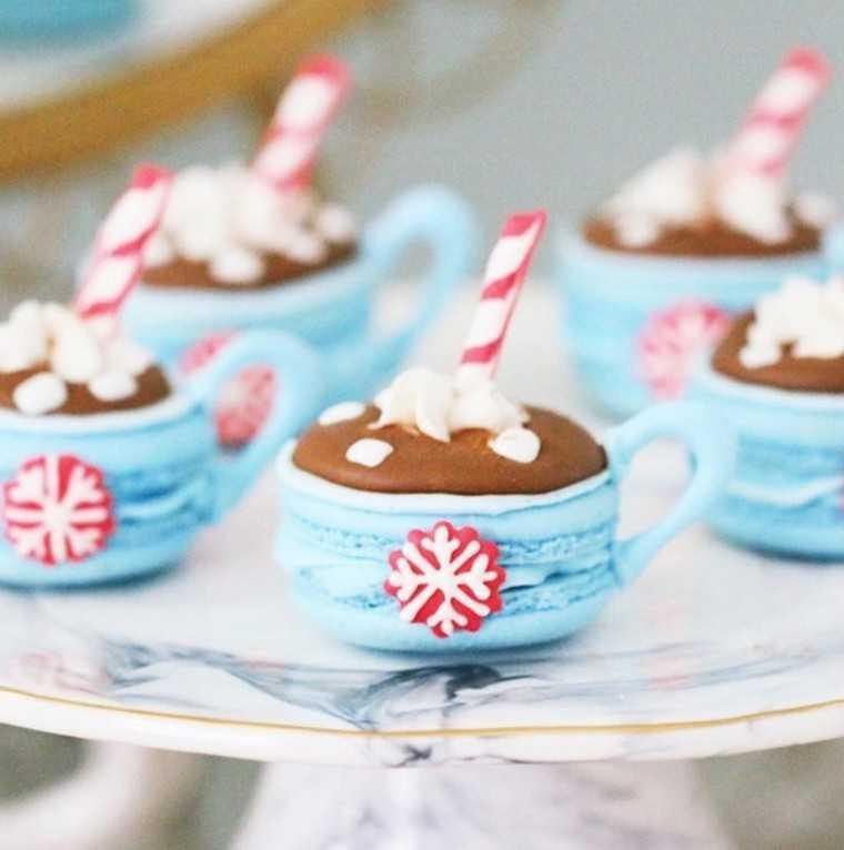 Pretty little macaron mugs. By @nutmegandhoneybee on Instagram