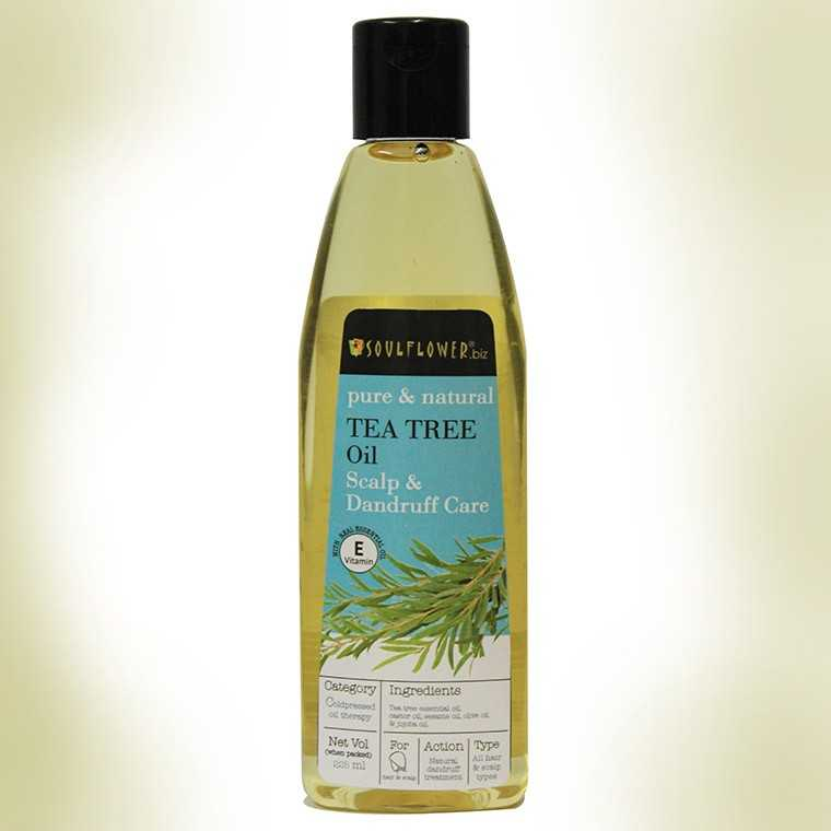 Soulflower Tea Tree Oil For Scalp & Dandruff Care