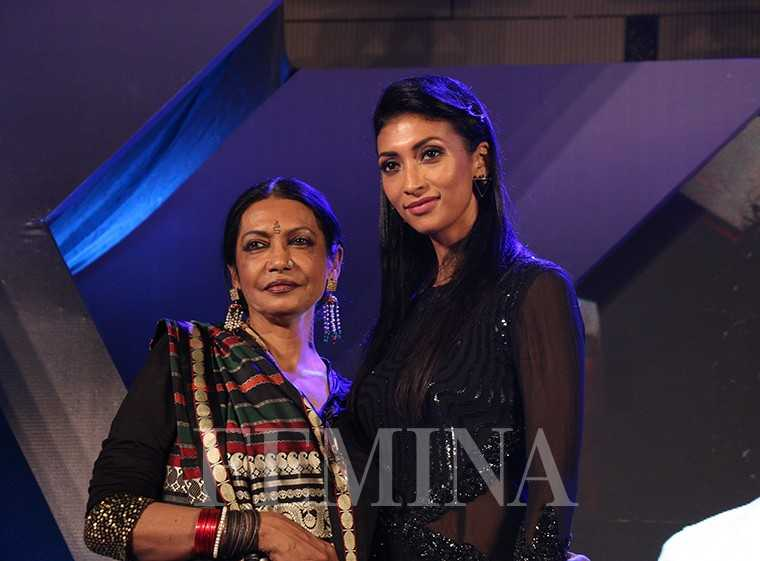 Reputed artist Anjana Kuthiala with model Lakshmi Rana