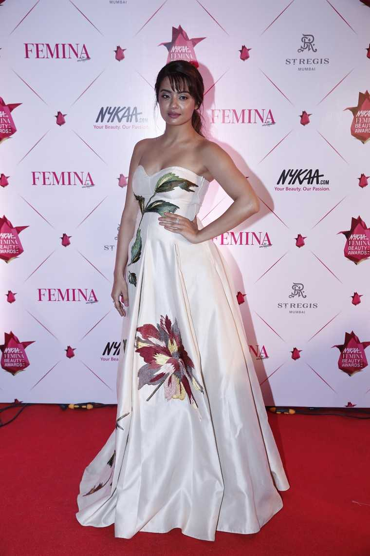 Surveen Chawla in a gown