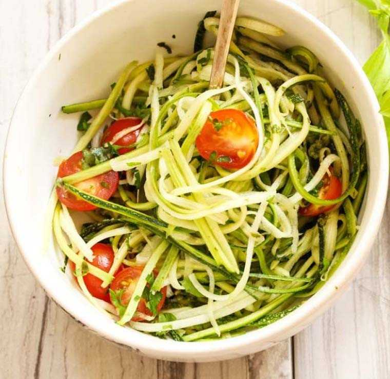 zucchini noodles or zoodle salad