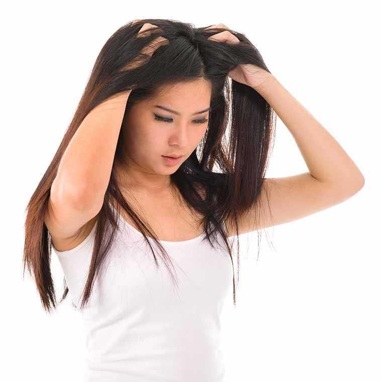 Massage your dry scalp:
