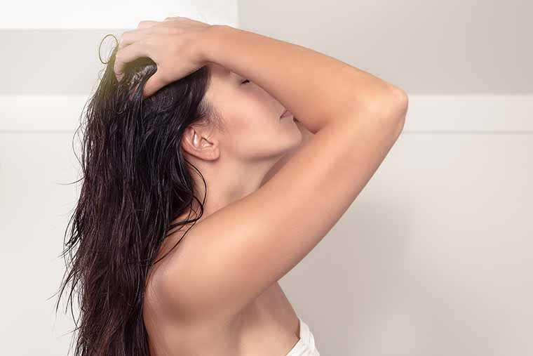 Wet hair massage: