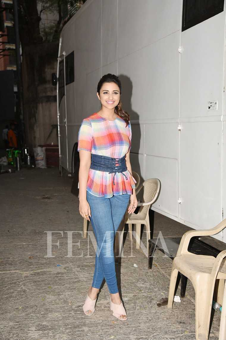 Parineeti Chopra Zara separates paired with H&M mules