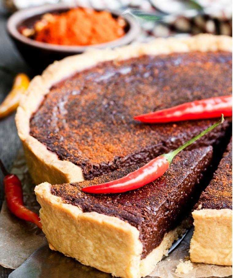 chocolate chilli tart