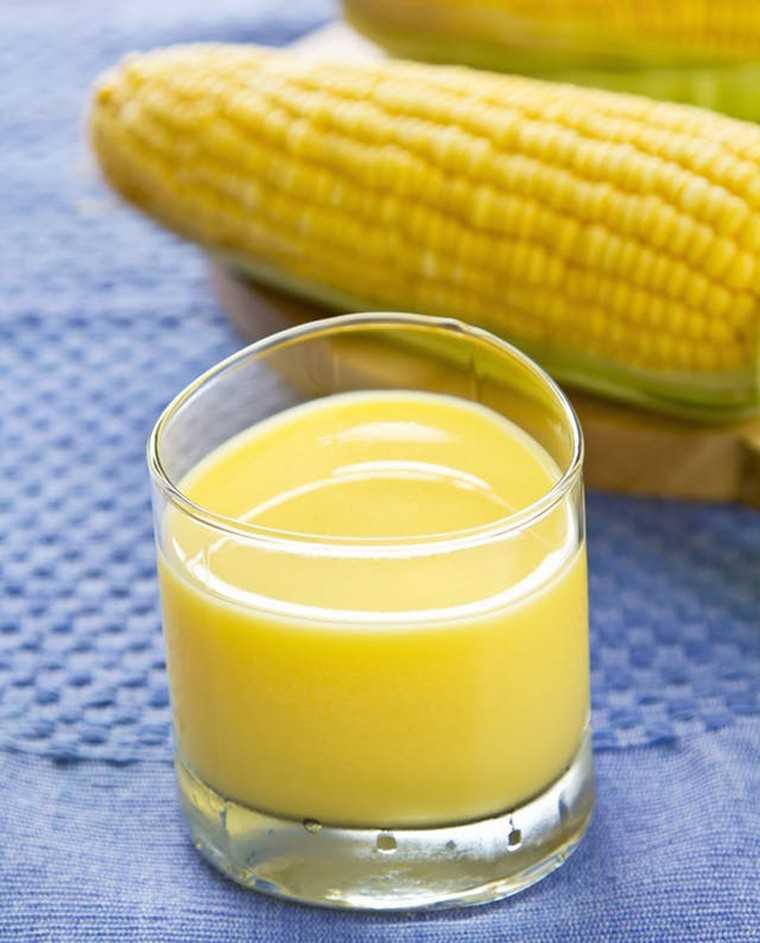 Corn kesar sherbet