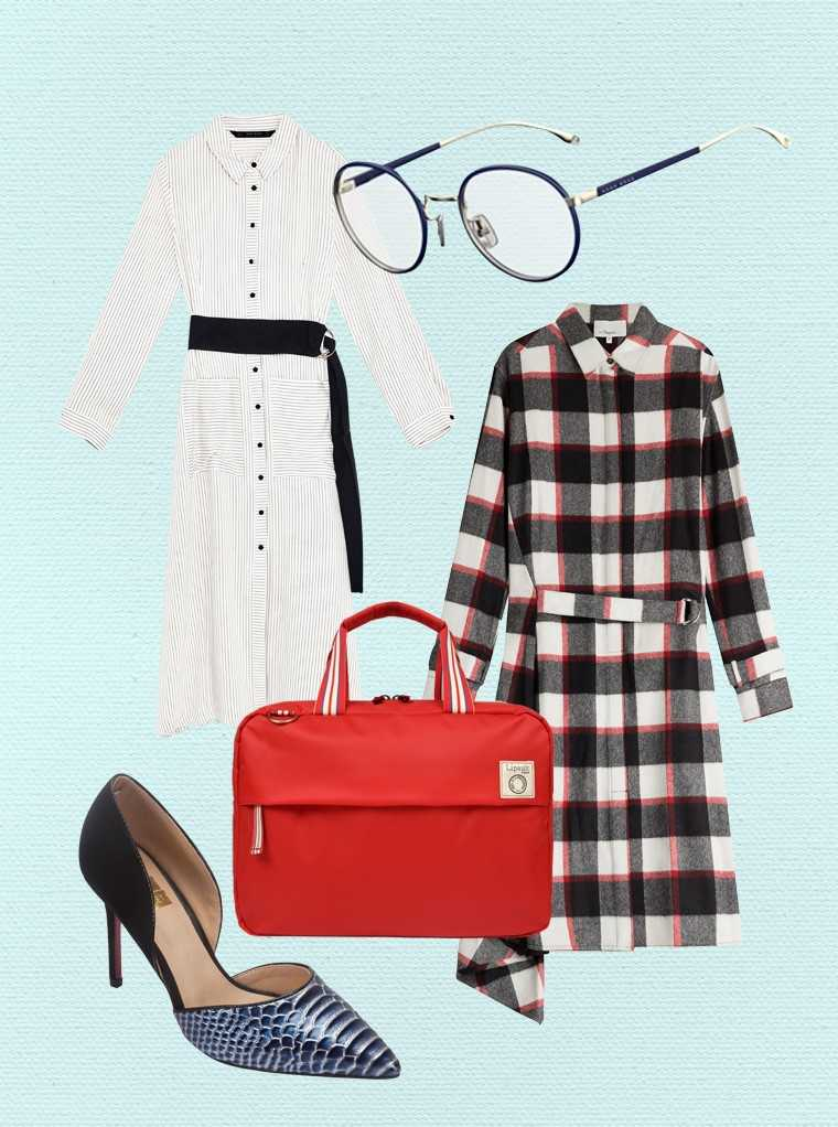chic shirt dresses, soft necklines and roomy sleeves