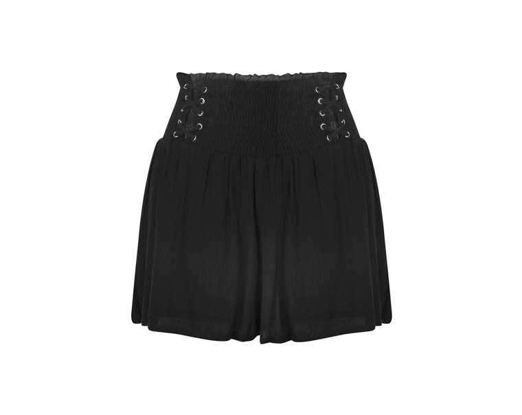 Lace up waist shorts