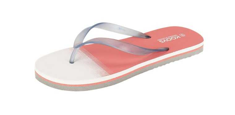 Rubber toe post flip flops